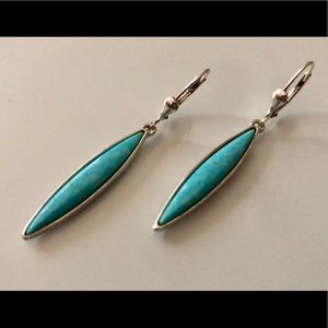 Jewelry - Turquoise .925 Silver Earring Dangles💙💙